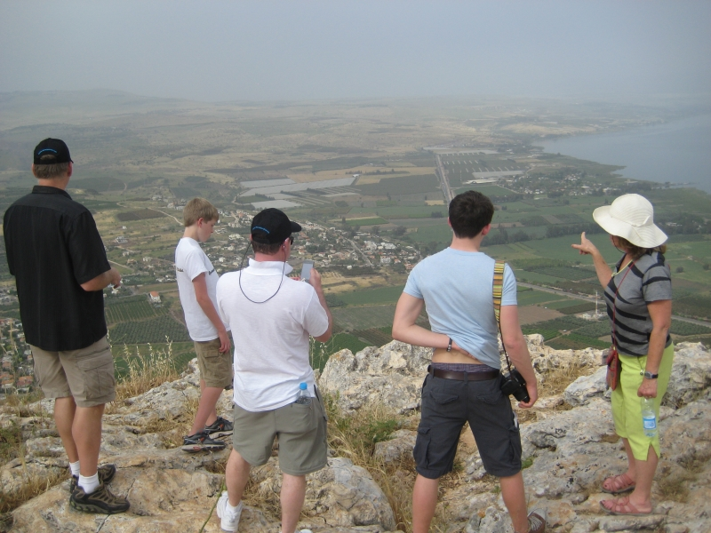 Looking at where Jesus would have walked