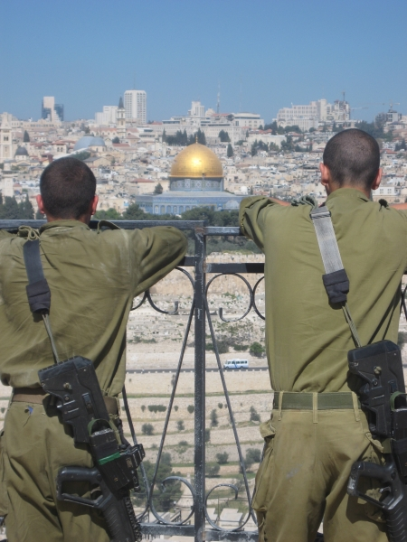 Soldiers and the Temple Mount