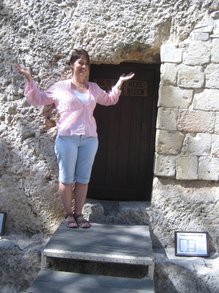 Laurie at the Garden Tomb