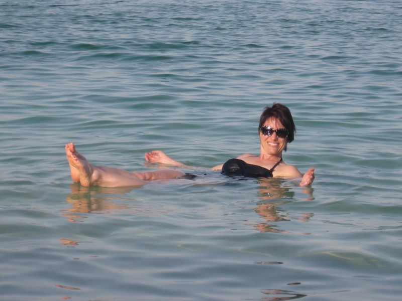 Laurie Floating in the Dead Sea